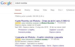 iRobot Roomba AdWords